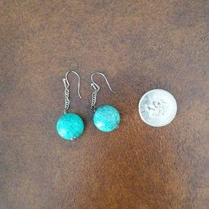 ⬇️ Turquoise dangle earrings